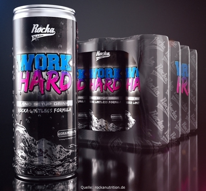 rocka nutrition mind booster work hard play hard energy drink erfahrungen test