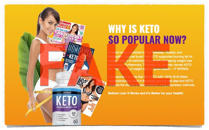 keto pure diet pillen fake magazin werbung test