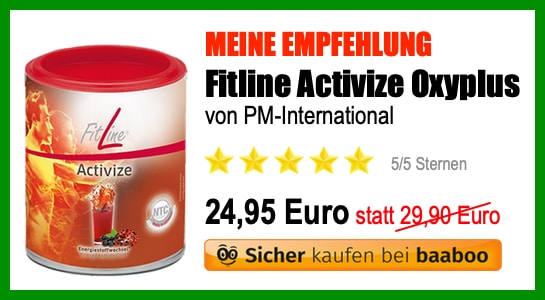 Fitline Activize Oxyplus Empfehlung (EB)